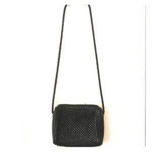 Medallion Black Crossbody Bag